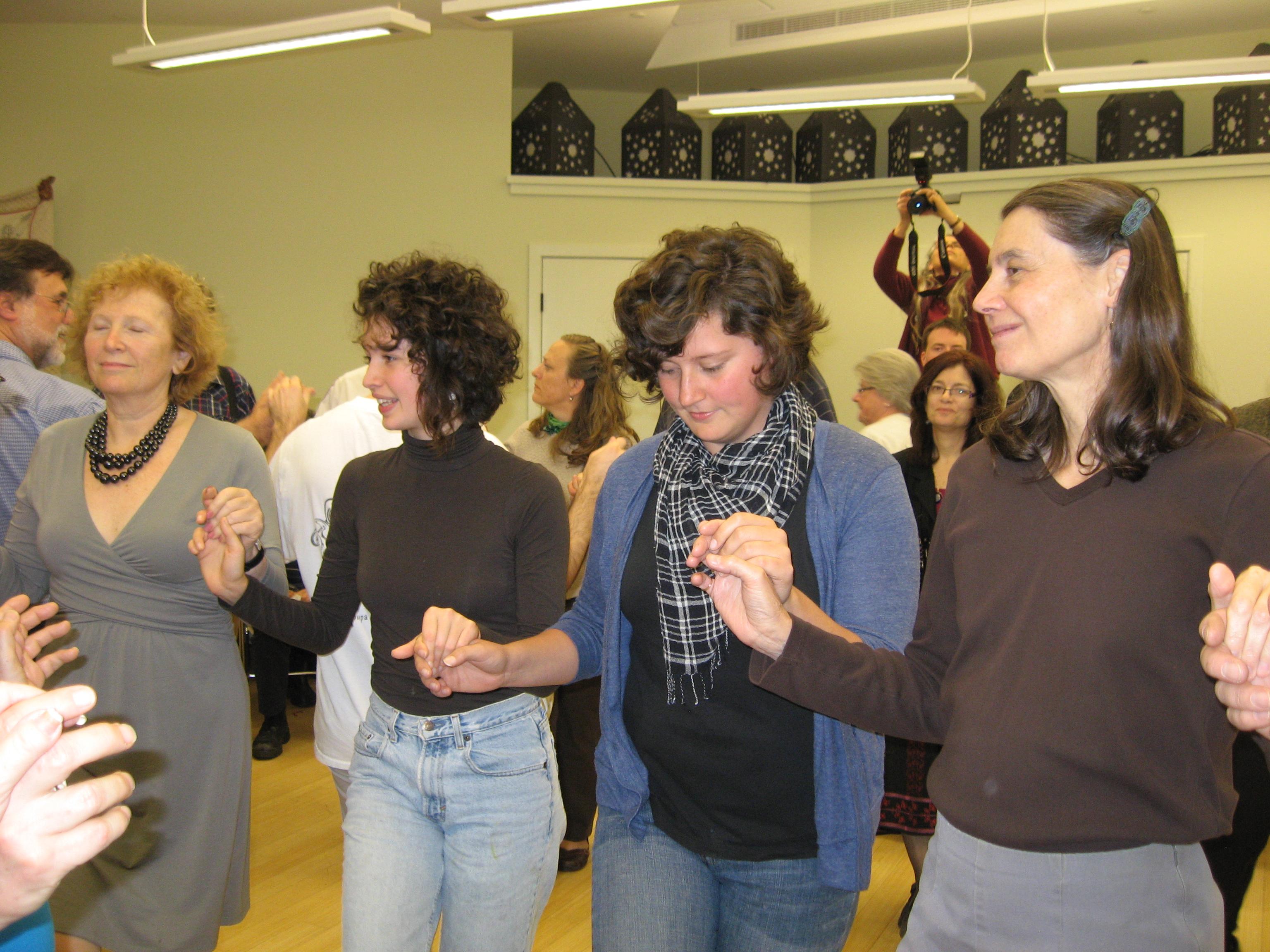 Community Sing dancing