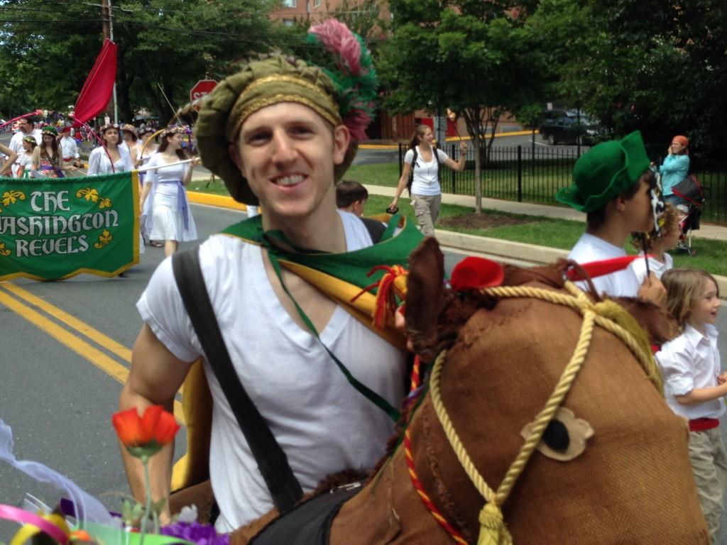 Hobby horse in parade