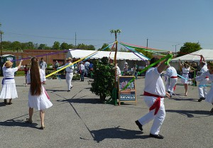 Doing the Maypole at the FONA Garden Fair