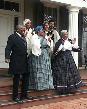 Jubilee Voices performing at the Frederick Douglass House in Washington, DC