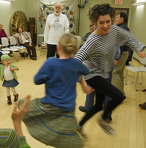 Community Sing - dancing