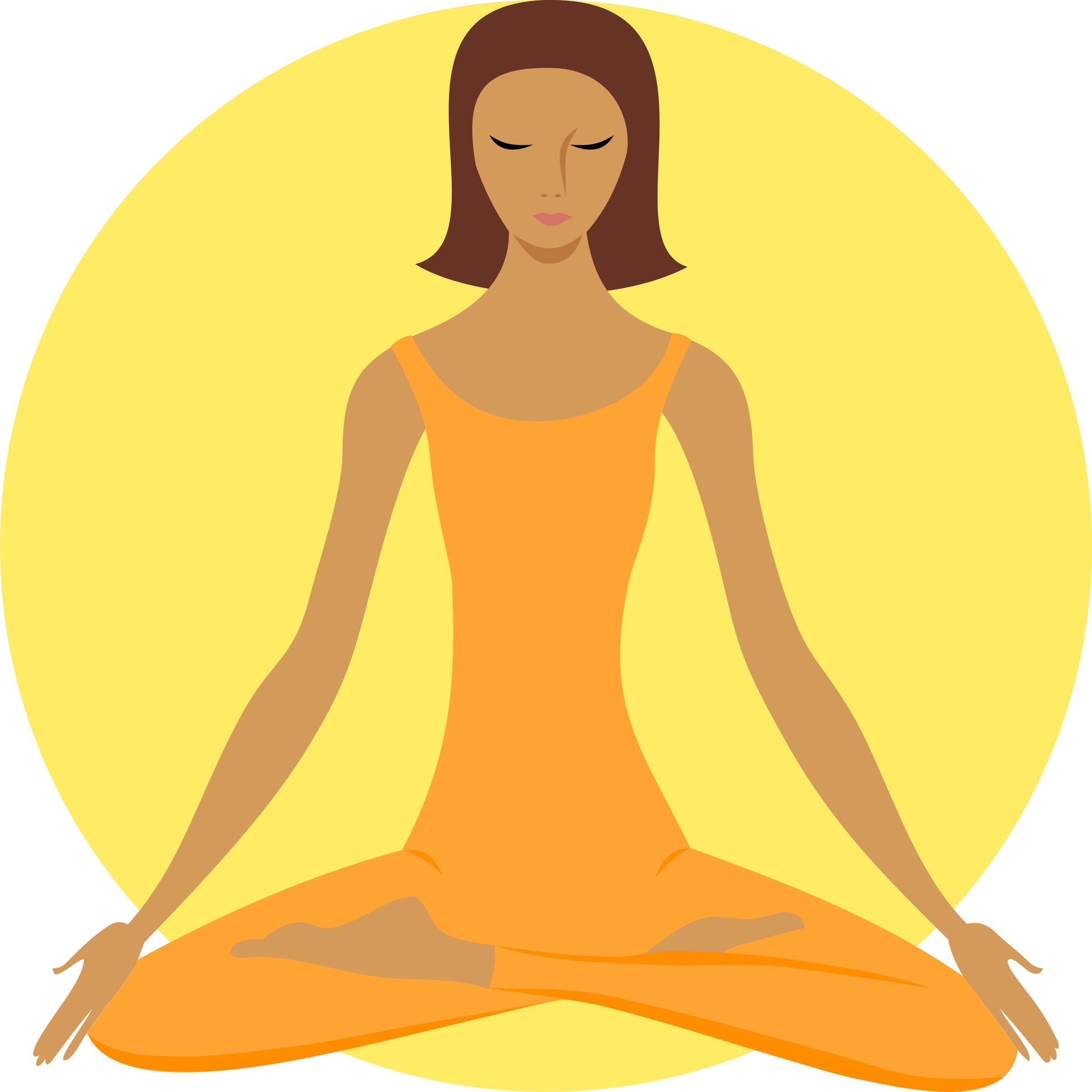 Remix Of Clker Clipart Woman In Yoga Position