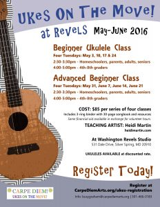 uke classes at REVELS