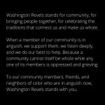 A Statement to Our Community