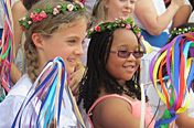 Revels kids with ribbon sticks