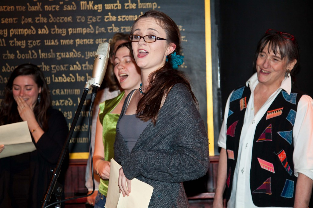Pub Sing - girls leading a song