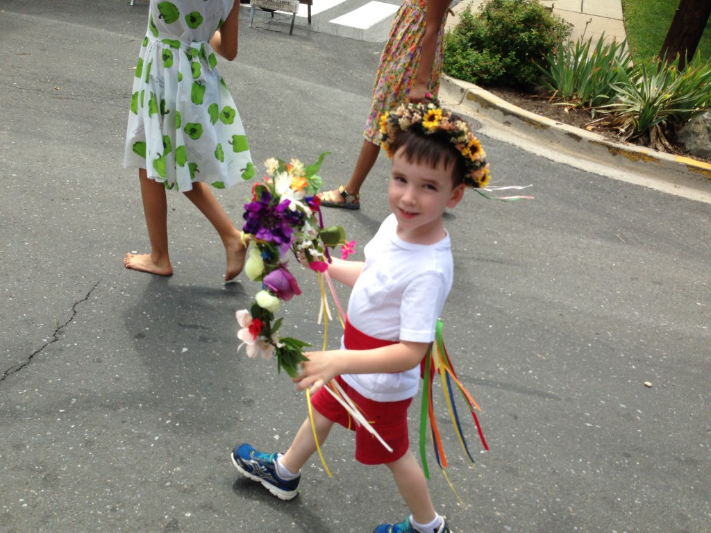 Child in parade