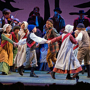 Children dancing in the 2008 Christmas Revels