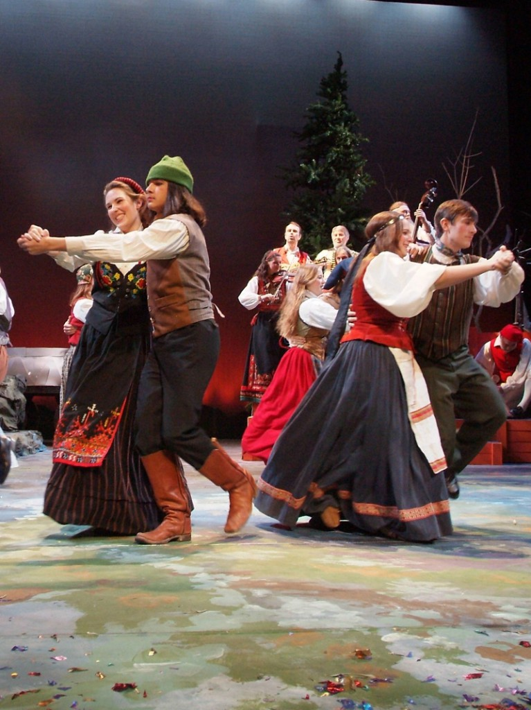 Teens dancing (2005 Christmas Revels)