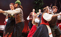 Teens dancing - Nordic Christmas Revels