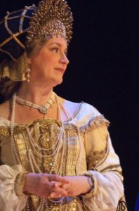 """Elizabeth Fulford as """"The Dogaressa"""" in The Christmas Revels"""
