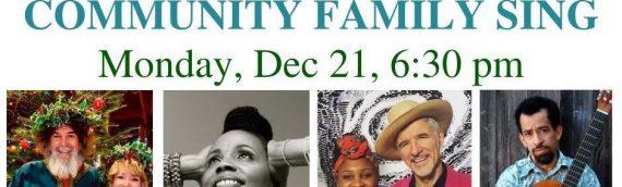 December 21 – Virtual Community Sing